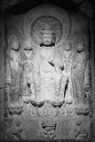 Het Chinese oude standbeeld van Boedha Royalty-vrije Stock Foto