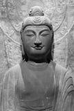 Het Chinese oude standbeeld van Boedha Stock Afbeelding