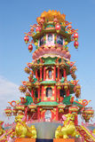 Het Chinese pagodelicht toont Royalty-vrije Stock Afbeeldingen