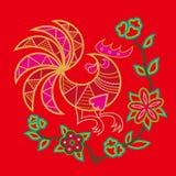 Het Chinese patroon van de borduurwerkhaan Royalty-vrije Stock Fotografie