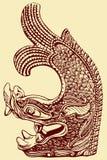 Het Chinese Patroon van de Draak Royalty-vrije Stock Afbeelding