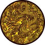 Het Chinese Patroon van de Draak Stock Foto's