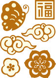 Het Chinese Patroon van het Nieuwjaar Royalty-vrije Stock Foto
