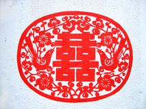 Het Chinese schilderen van de muur stock afbeeldingen