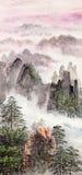 Het Chinese schilderen van hoge berg Stock Foto