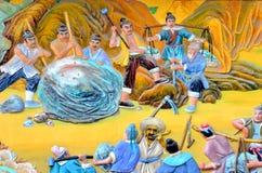Het Chinese schilderen van oude Chinese mythologie stock foto's