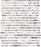 Het Chinese schrijven met vertaling Royalty-vrije Stock Fotografie
