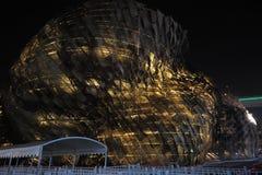 Het Chinese Spaanse Paviljoen van 2010 voor de Wereld Expo van Shanghai Stock Fotografie