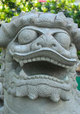 Het Chinese Standbeeld van de Leeuw Royalty-vrije Stock Afbeelding