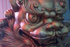 Het Chinese Standbeeld van de Leeuw Royalty-vrije Stock Afbeeldingen