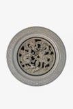 Het Chinese standbeeld van de steendraak in cyclus Royalty-vrije Stock Foto