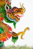 Het Chinese standbeeld van de stijldraak Stock Afbeelding
