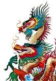 Het Chinese standbeeld van de stijldraak, dat in Thailand wordt genomen Stock Fotografie