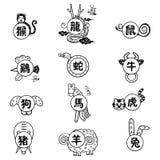 Het Chinese Teken van de Dierenriem Stock Foto's