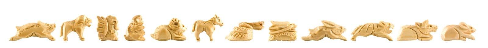 Het Chinese teken van Woodcarving Royalty-vrije Stock Foto