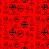 Het Chinese traditionele behang van de godsdienstreeks Stock Afbeelding