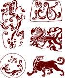 Het Chinese Traditionele Patroon van de Totem Royalty-vrije Stock Foto's