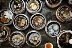 Het Chinese voedsel van Dimsum Stock Afbeeldingen