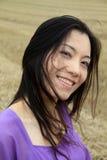 Het Chinese vrouwen glimlachen Royalty-vrije Stock Foto's