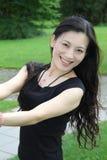 Het Chinese vrouwen glimlachen Royalty-vrije Stock Foto