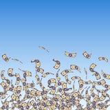 Het Chinese yuansnota's vallen Kleine CNY-rekeningen op blu royalty-vrije illustratie