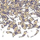 Het Chinese yuansnota's vallen Slordige CNY-rekeningen op whi royalty-vrije illustratie