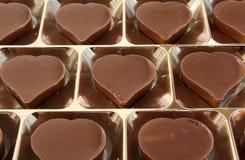 Het chocoladehart Royalty-vrije Stock Afbeeldingen