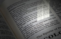 Het christelijke Vers van de Bijbel Royalty-vrije Stock Foto