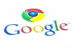 Het chroompictogram van Google Stock Foto's
