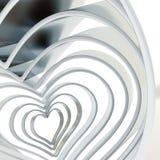 Het cijfer abstracte achtergrond van de hartvorm Stock Afbeelding