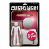 Het Cijfer Toy Find New Client Buyer van de klantenactie Stock Foto