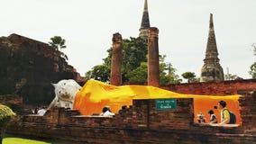 Het cijfer van Boedha van de zitting Het Thaise Standbeeld van Boedha thailand Royalty-vrije Stock Afbeeldingen