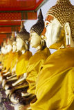 Het cijfer van Boedha in Wat Pho stock foto's