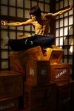 Het cijfer van de de acteurswas van Bruceluwtes hollywood bij Mevrouw tussauds in Hongkong royalty-vrije stock fotografie