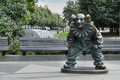 Het cijfer van de clown op Tsvetnoy-Boulevard royalty-vrije stock fotografie