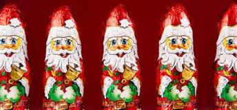 Het cijfer van de kerstmanchocolade Stock Foto