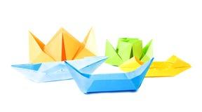 Het cijfer van de origami van boten Stock Foto