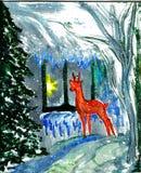 Het cijfer van Kerstmis van kinderen Royalty-vrije Stock Afbeeldingen