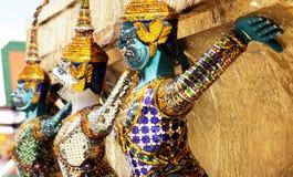 Het cijfer van Ramayana bij Wat prakaew tempel, Thailand royalty-vrije stock foto's