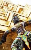 Het cijfer van Ramayana bij Wat prakaew tempel, Thailand stock foto