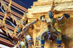 Het cijfer van Ramayana bij Wat prakaew tempel, Thailand stock afbeeldingen