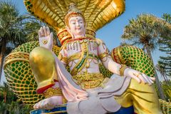 Het Cijfer van zittingsboedha, Kanchanaburi Royalty-vrije Stock Afbeeldingen