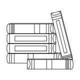 Het cijfer velen boekt samen pictogram stock illustratie
