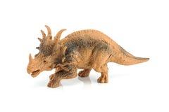 Het cijferstuk speelgoed van de Styracosaurusdinosaurus op wit wordt geïsoleerd dat Royalty-vrije Stock Fotografie