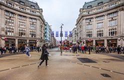Het Circus die van Oxford in Londen kruisen Stock Fotografie