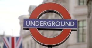 Het Circus Ondergronds teken van Oxford stock video