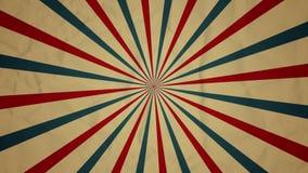 Het circus starburst voorzag animatieachtergrond van een lus stock footage