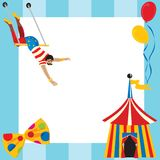 Het circus themed partijuitnodiging Royalty-vrije Stock Foto's