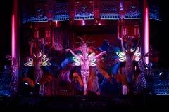 Het circus toont prestatiesbaronetten in Nizhny Novgorod Stock Foto's