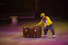 Het circus toont prestatiesbaronetten in Nizhny Novgorod Royalty-vrije Stock Fotografie